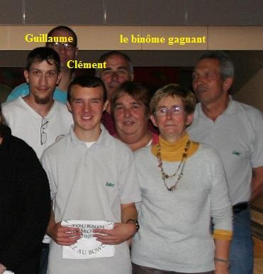 les gagnants Guillaume et Clément